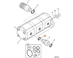 Oring - nypel - pompa hydrauliczna - minikoparka 1,5T JCB