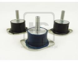 Komplet poduszek pod silnik - Minikoparki JCB 8014, 8016, 8018, 8020