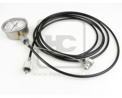 Zestaw do pomiaru ciśnienia na maszynie JCB - Przewód + Manometr 300 bar
