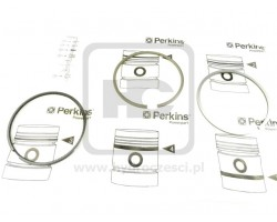 Jcb Pierścienie 100Mm 2,5X2,5X4  - Perkins Aa - Oryginał