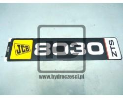 Naklejka pozima na koparkę JCB 8030ZTS - 817/20216