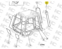 Szyba narożna lewa 3cx 4cx ,  kabina P.8 - 827/20340