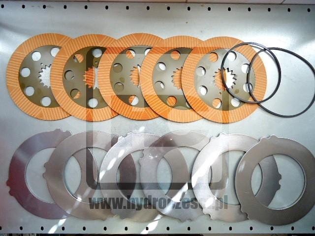 Komplet tarczek, przekładek i uszczelniaczy do hamulców JCB 3CX 4CX