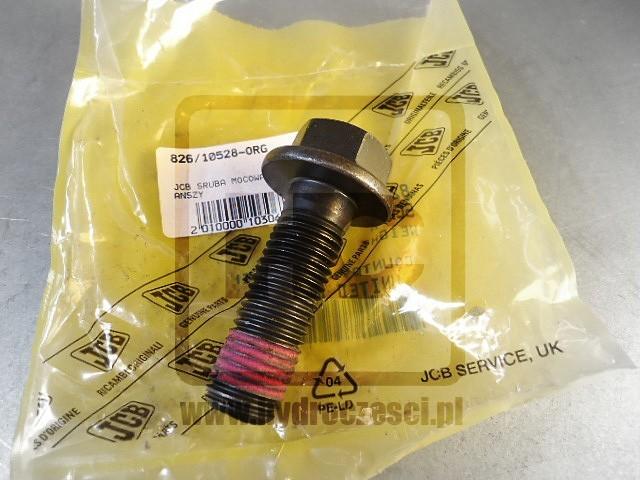 Oryginalna śruba do przykręcania flanszy na krzyżak do skrzyni biegów w maszynach JCB