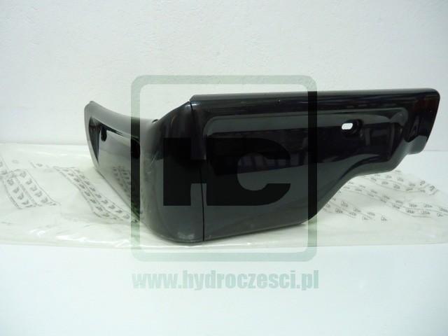 Prawy narożnik plastikowy kabiny JCB 3CX 4CX - Czarny - 331/37837
