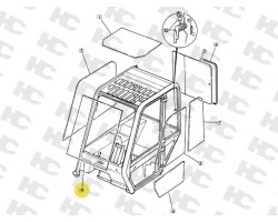 Szyba przednia - ładowarka teleskopowa JCB - 827/30519