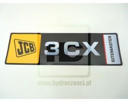 Naklejka na przednie ramie JCB 3CX Sitemaster - Pozioma