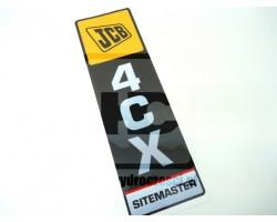 Naklejka JCB 4CX Sitemaster - Pionowa