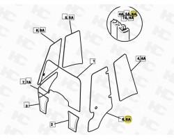 Uszczelka drzwi -JCB 3CX 4CX - Kabina P21