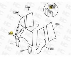 Uszczelka szyby dolnej prawych drzwi JCB 3CX 4CX- Kabina P21 - Zamiennik
