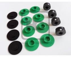 Komplet ślizgów do stabilizatorów JCB 3CX 4CX - Korki Metalowe