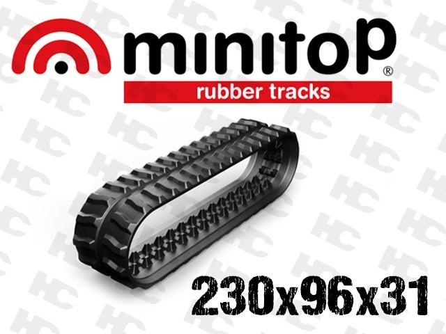 Gąsienica gumowa - Minikoparki 1,5 tony - JCB 8014, 8015, 8016, 8017, 8018 - 230x96x31