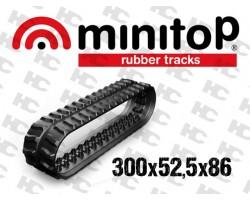 Gąsienica gumowa - Minikoparki - 300x52,5x86W