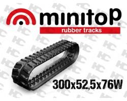 Gąsienica gumowa - Minikoparki - 300x52,5x76W