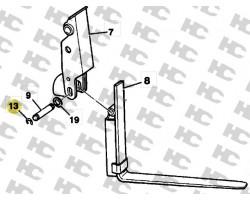 Zabezpieczenie sworznia wideł - 3CX 4CX