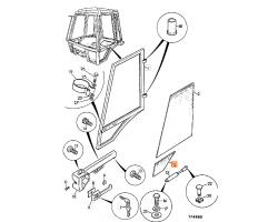 Szyba drzwi dolna prawa kabina P8