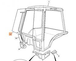 Szyba przednia kabina P12