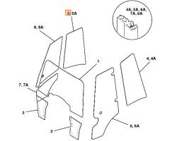 Szyba boczna prawa zaokrąglona kabina P21