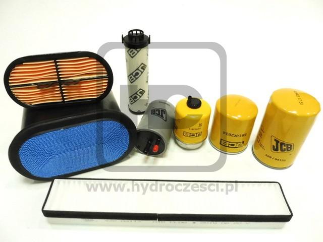 Zestaw filtrów do silnika JCB DieselMax TIER 3 - Komplet na 500 MTH - Oryginał JCB